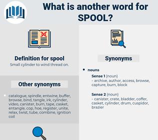 spool, synonym spool, another word for spool, words like spool, thesaurus spool