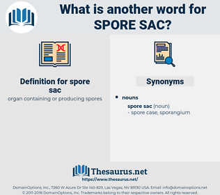 spore sac, synonym spore sac, another word for spore sac, words like spore sac, thesaurus spore sac
