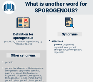 sporogenous, synonym sporogenous, another word for sporogenous, words like sporogenous, thesaurus sporogenous