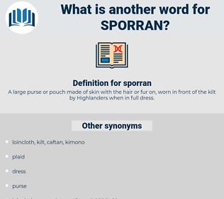 sporran, synonym sporran, another word for sporran, words like sporran, thesaurus sporran