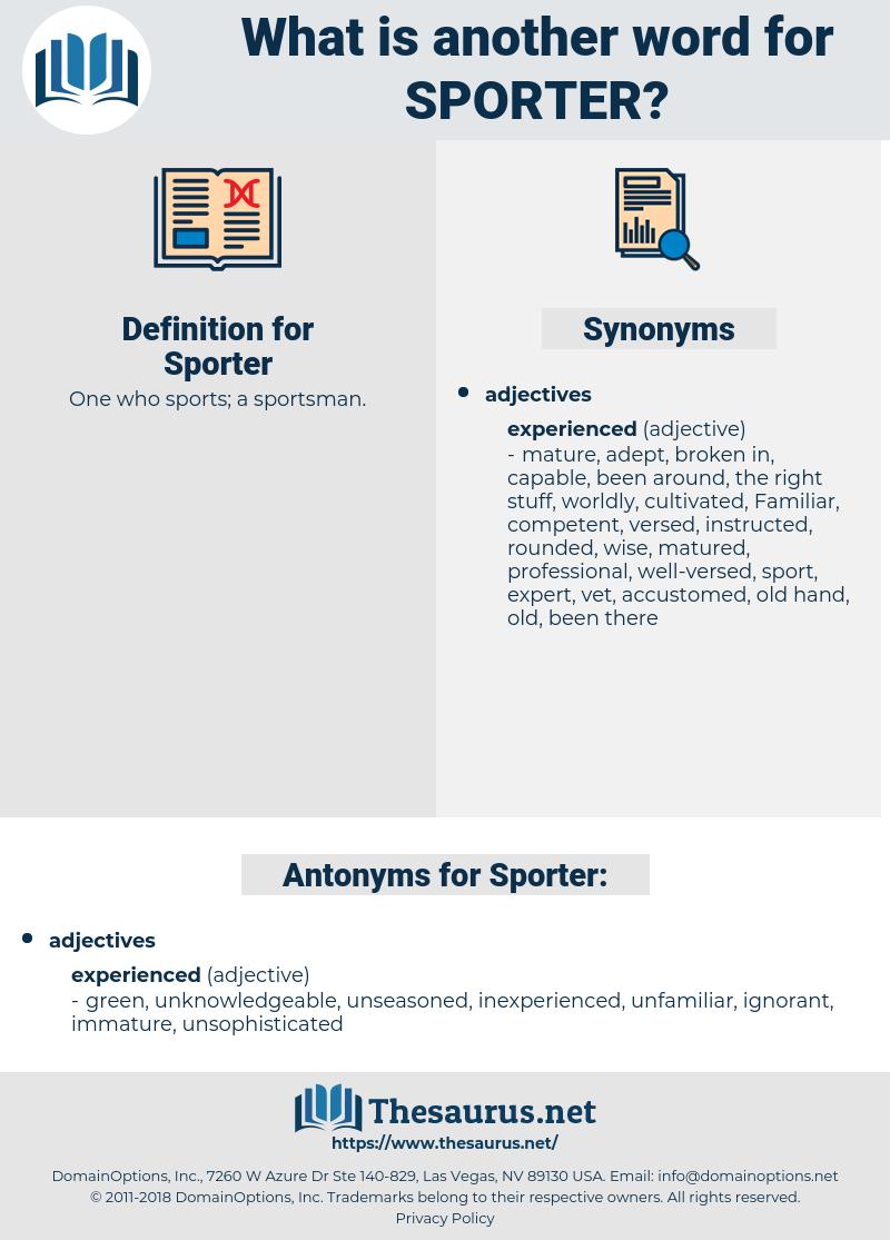 Sporter, synonym Sporter, another word for Sporter, words like Sporter, thesaurus Sporter
