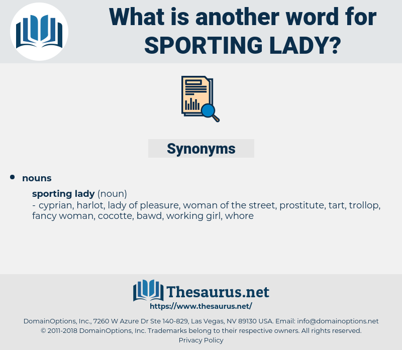 sporting lady, synonym sporting lady, another word for sporting lady, words like sporting lady, thesaurus sporting lady