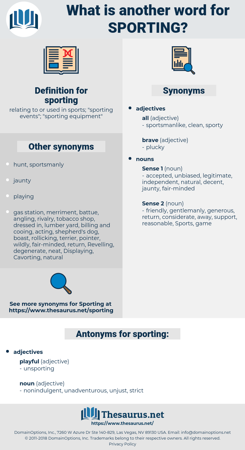 sporting, synonym sporting, another word for sporting, words like sporting, thesaurus sporting