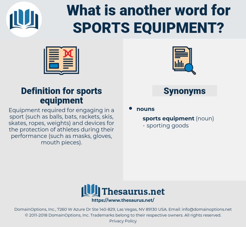 sports equipment, synonym sports equipment, another word for sports equipment, words like sports equipment, thesaurus sports equipment