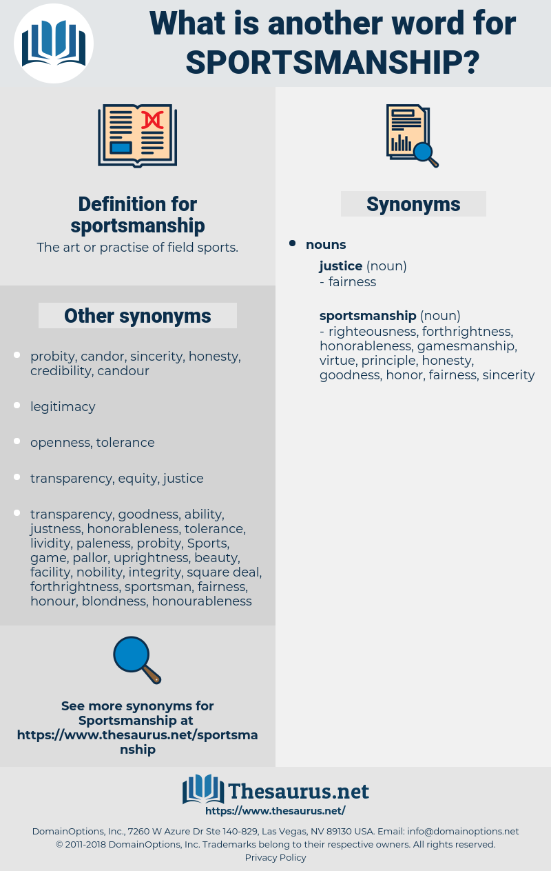sportsmanship, synonym sportsmanship, another word for sportsmanship, words like sportsmanship, thesaurus sportsmanship