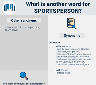 sportsperson, synonym sportsperson, another word for sportsperson, words like sportsperson, thesaurus sportsperson