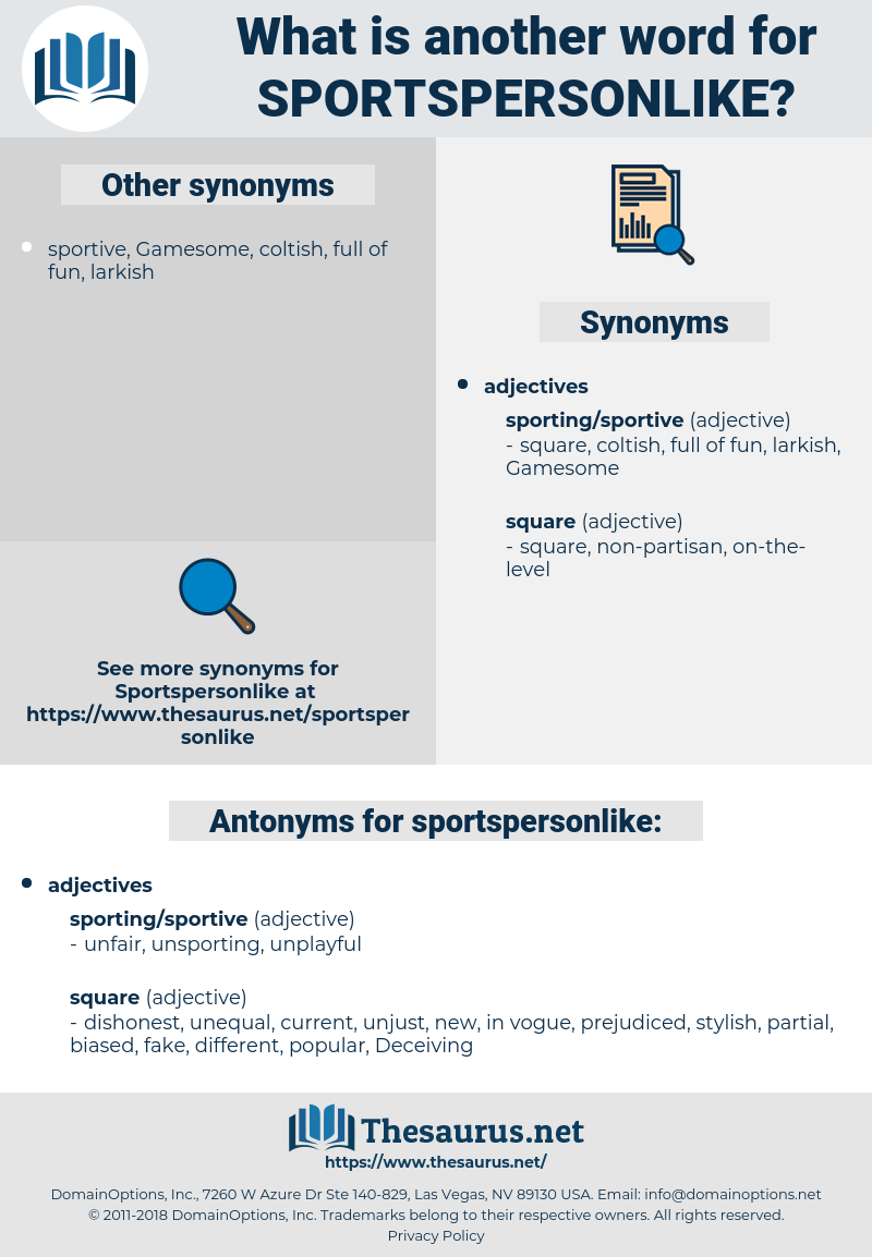 sportspersonlike, synonym sportspersonlike, another word for sportspersonlike, words like sportspersonlike, thesaurus sportspersonlike