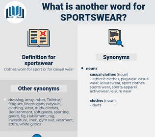 sportswear, synonym sportswear, another word for sportswear, words like sportswear, thesaurus sportswear
