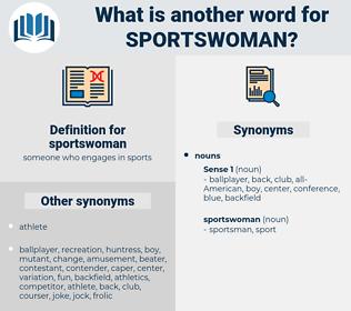 sportswoman, synonym sportswoman, another word for sportswoman, words like sportswoman, thesaurus sportswoman