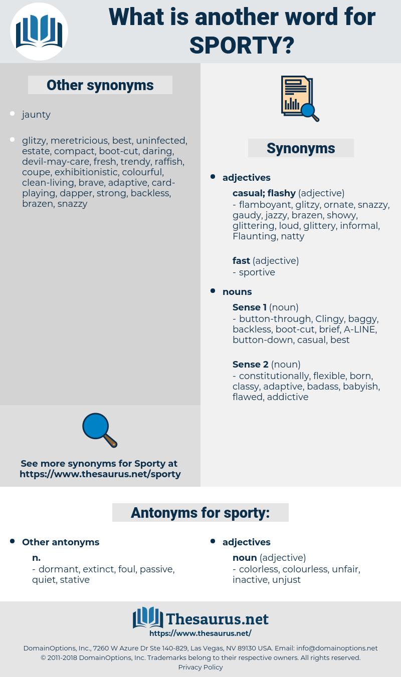 sporty, synonym sporty, another word for sporty, words like sporty, thesaurus sporty