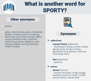 sporty, synonym sporty, another word for sporty, words like sporty, thesaurus sporty