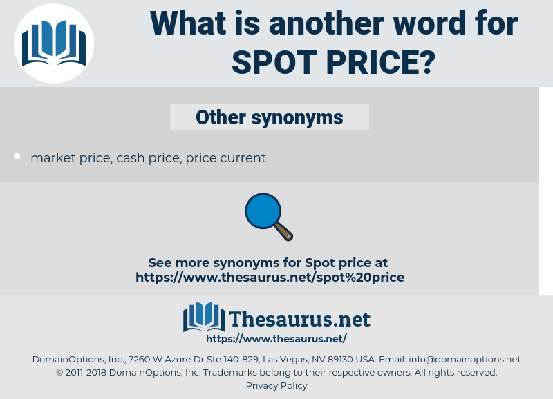 spot price, synonym spot price, another word for spot price, words like spot price, thesaurus spot price