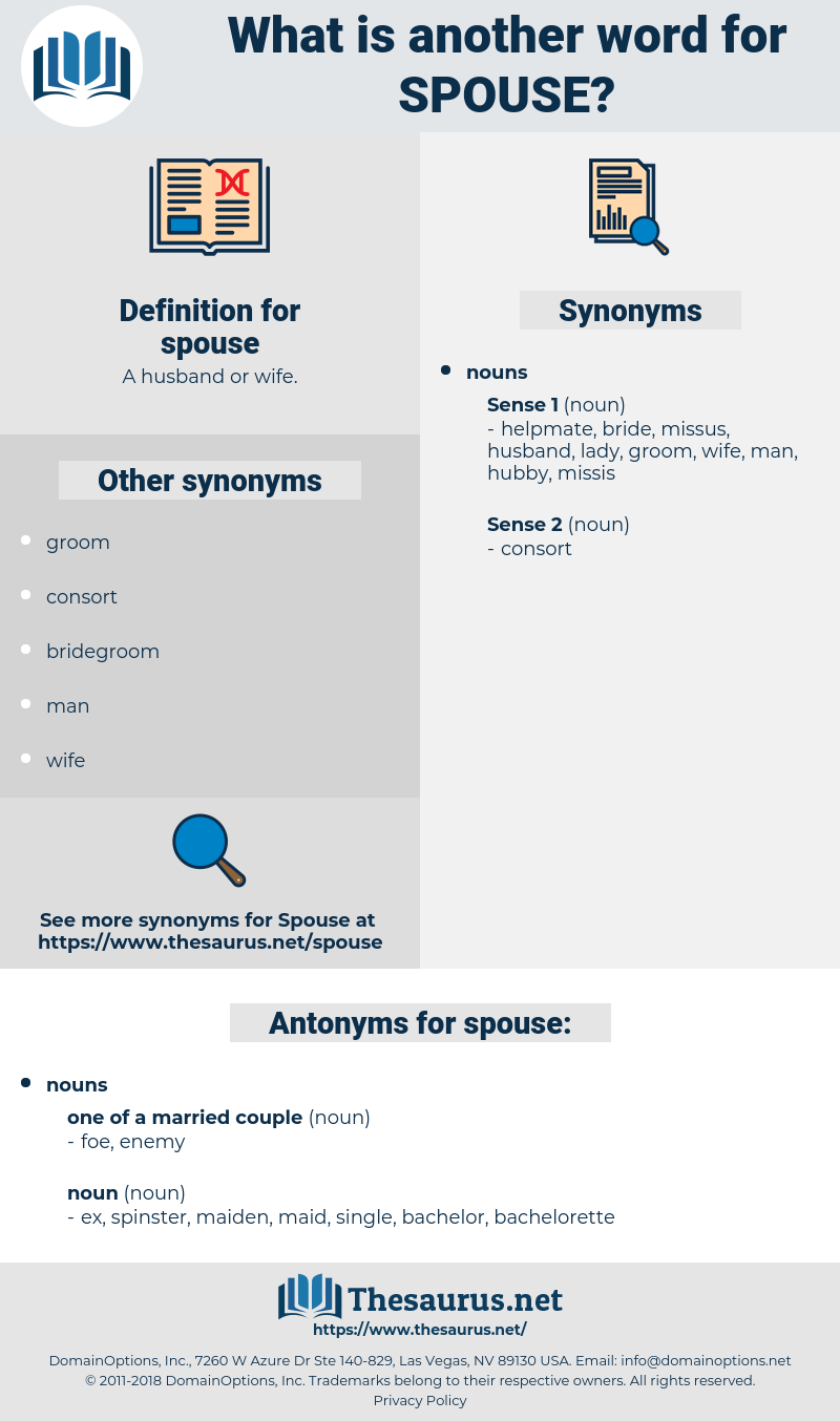 spouse, synonym spouse, another word for spouse, words like spouse, thesaurus spouse