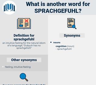 sprachgefuhl, synonym sprachgefuhl, another word for sprachgefuhl, words like sprachgefuhl, thesaurus sprachgefuhl