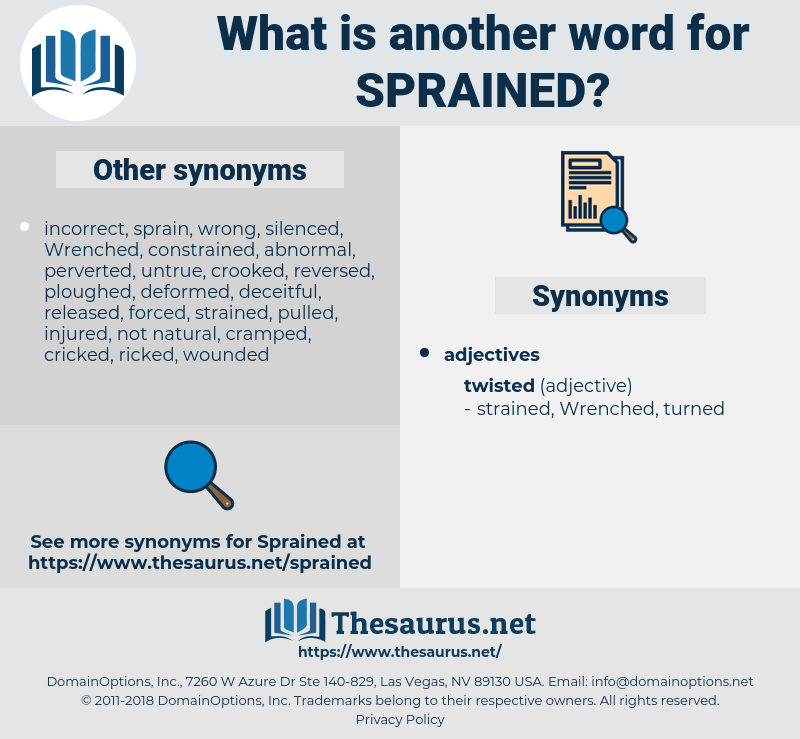 Sprained, synonym Sprained, another word for Sprained, words like Sprained, thesaurus Sprained