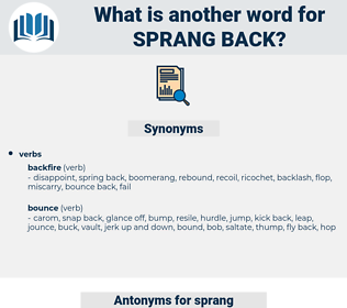 sprang back, synonym sprang back, another word for sprang back, words like sprang back, thesaurus sprang back