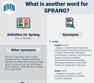Sprang, synonym Sprang, another word for Sprang, words like Sprang, thesaurus Sprang