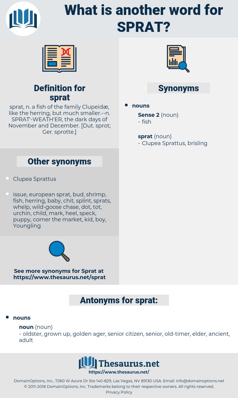 sprat, synonym sprat, another word for sprat, words like sprat, thesaurus sprat