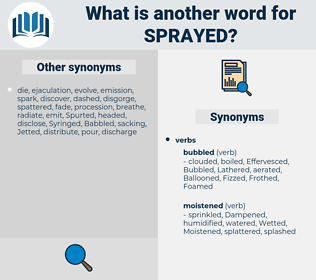 sprayed, synonym sprayed, another word for sprayed, words like sprayed, thesaurus sprayed