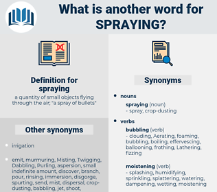 spraying, synonym spraying, another word for spraying, words like spraying, thesaurus spraying