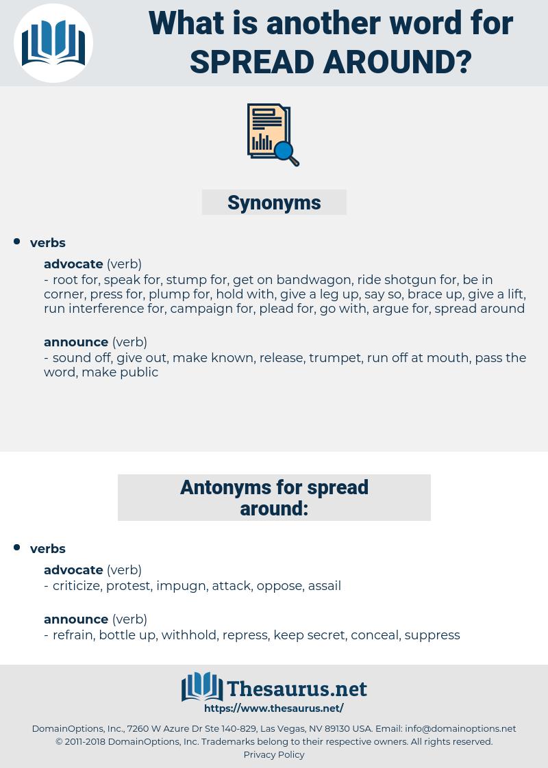 spread around, synonym spread around, another word for spread around, words like spread around, thesaurus spread around