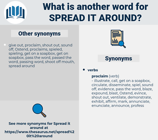 spread it around, synonym spread it around, another word for spread it around, words like spread it around, thesaurus spread it around