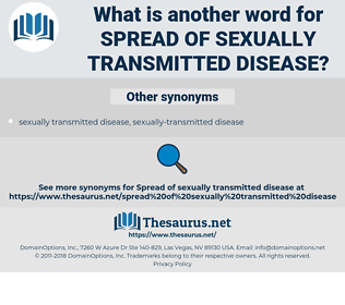 spread of sexually transmitted disease, synonym spread of sexually transmitted disease, another word for spread of sexually transmitted disease, words like spread of sexually transmitted disease, thesaurus spread of sexually transmitted disease