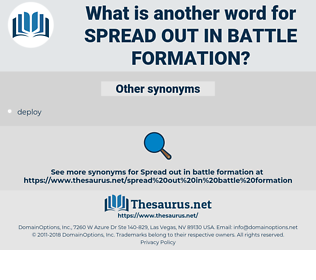 spread out in battle formation, synonym spread out in battle formation, another word for spread out in battle formation, words like spread out in battle formation, thesaurus spread out in battle formation
