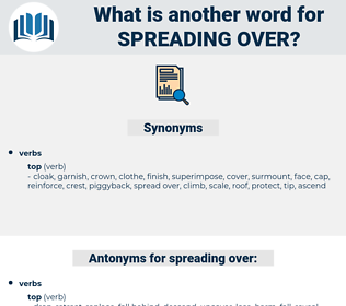 spreading over, synonym spreading over, another word for spreading over, words like spreading over, thesaurus spreading over