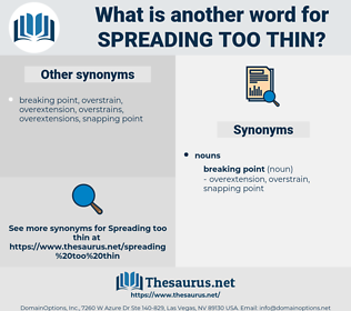 spreading too thin, synonym spreading too thin, another word for spreading too thin, words like spreading too thin, thesaurus spreading too thin
