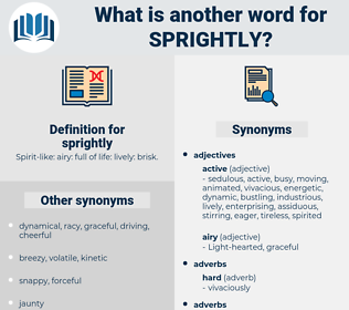 sprightly, synonym sprightly, another word for sprightly, words like sprightly, thesaurus sprightly