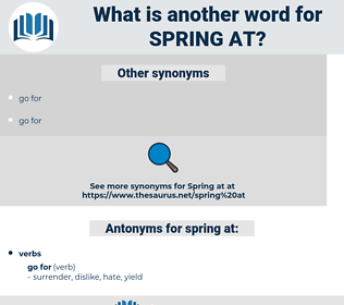 spring at, synonym spring at, another word for spring at, words like spring at, thesaurus spring at