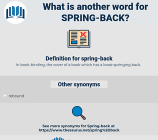 spring back, synonym spring back, another word for spring back, words like spring back, thesaurus spring back