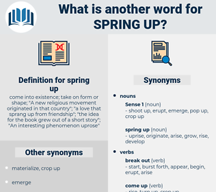 spring up, synonym spring up, another word for spring up, words like spring up, thesaurus spring up