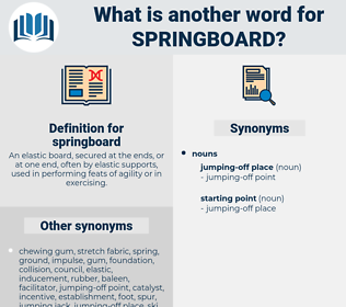 springboard, synonym springboard, another word for springboard, words like springboard, thesaurus springboard