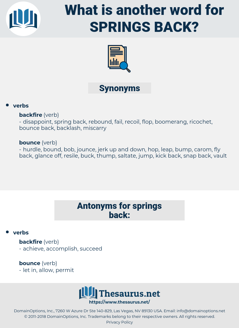 springs back, synonym springs back, another word for springs back, words like springs back, thesaurus springs back