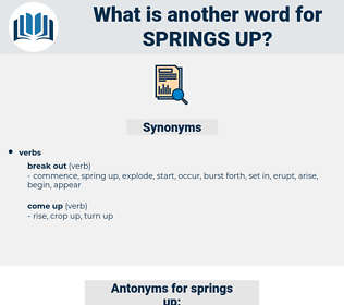 springs up, synonym springs up, another word for springs up, words like springs up, thesaurus springs up