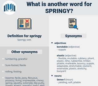 springy, synonym springy, another word for springy, words like springy, thesaurus springy