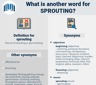 sprouting, synonym sprouting, another word for sprouting, words like sprouting, thesaurus sprouting