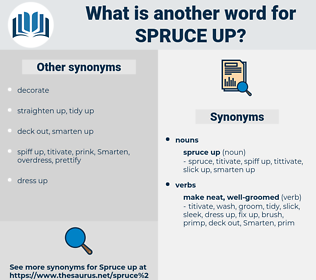 spruce up, synonym spruce up, another word for spruce up, words like spruce up, thesaurus spruce up