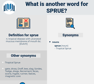sprue, synonym sprue, another word for sprue, words like sprue, thesaurus sprue