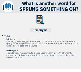 sprung something on, synonym sprung something on, another word for sprung something on, words like sprung something on, thesaurus sprung something on