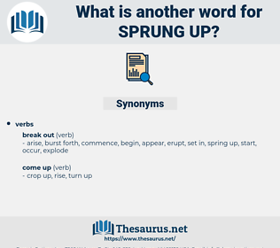 sprung up, synonym sprung up, another word for sprung up, words like sprung up, thesaurus sprung up