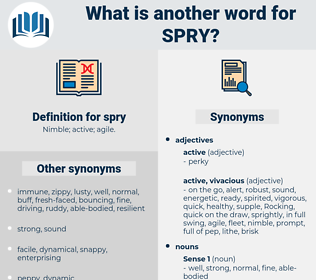 spry, synonym spry, another word for spry, words like spry, thesaurus spry