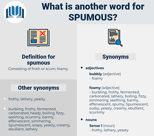 spumous, synonym spumous, another word for spumous, words like spumous, thesaurus spumous