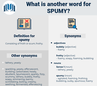 spumy, synonym spumy, another word for spumy, words like spumy, thesaurus spumy