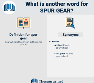 spur gear, synonym spur gear, another word for spur gear, words like spur gear, thesaurus spur gear