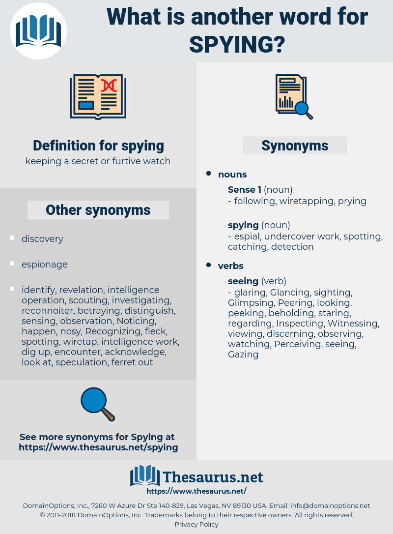spying, synonym spying, another word for spying, words like spying, thesaurus spying
