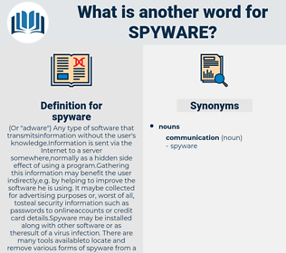spyware, synonym spyware, another word for spyware, words like spyware, thesaurus spyware
