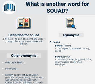 squad, synonym squad, another word for squad, words like squad, thesaurus squad